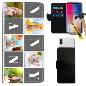 3b4f7526541 Image is loading Personalised-IMAGE-Family-NANNY-Print-Wallet-Case-Glass-
