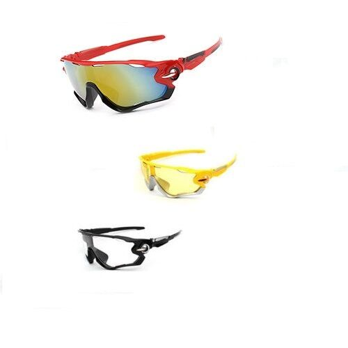 3 Pack Sunglasses Bike Cycling Sun Glasses low light clear red Road MTB Mountain