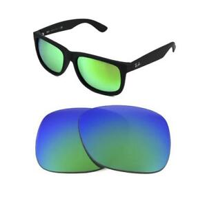 c4f067d1c22 NEW POLARIZED REPLACEMENT GREEN LENS FIT RAY BAN 4165 JUSTIN 54mm ...