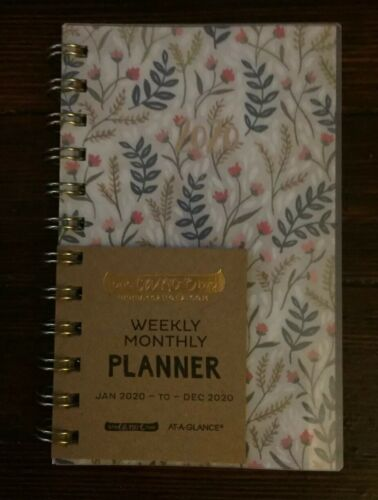 """One Canoe Two At A Glance /""""Meadow/"""" Weekly//Monthly 2020 Pocket Planner"""