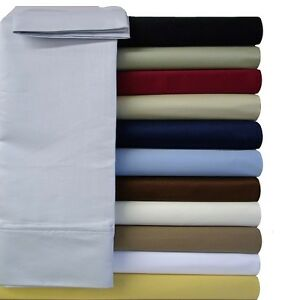 c5493f7d774b Image is loading Luxury-Bed-Sheet-Set-Solid-Brushed-Microfiber-Wrinkle-