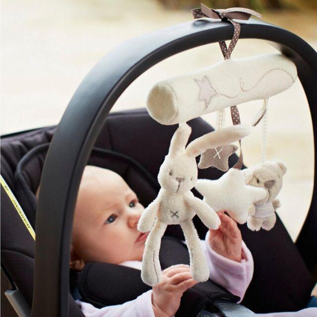 NEW Cute Animal Handbells Developmental Toy Bed Bells Kids Baby Soft Toys Rattle