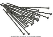 "20 Piece Gunmetal Plated 1"" Flat Top Head Pins 22 Gauge Wire Beading Jewelry"