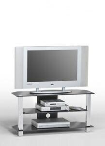 TV-Regal-TV-Tisch-TV-Rack-Fernsehtisch-Medienrack-Board-MAJA-Glas-Metall-NEU