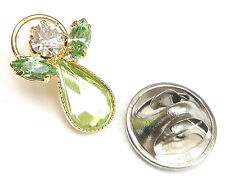 Message Angel Birthstone Peridot Crystal Pin Badge