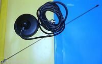 TAXI METER MAG MOUNT ANTENNA BNC COMPLETE 100mm BLACK  RUBBER BASE  VHF UHF7
