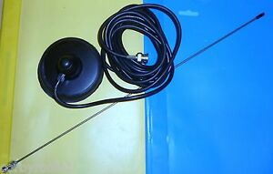 TAXI-METER-MAG-MOUNT-ANTENNA-BNC-COMPLETE-100mm-BLACK-RUBBER-BASE-VHF-UHF7