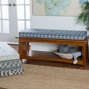 Image Is Loading 45x16 Indoor Bench Cushion Box Edge Geometric Pattern