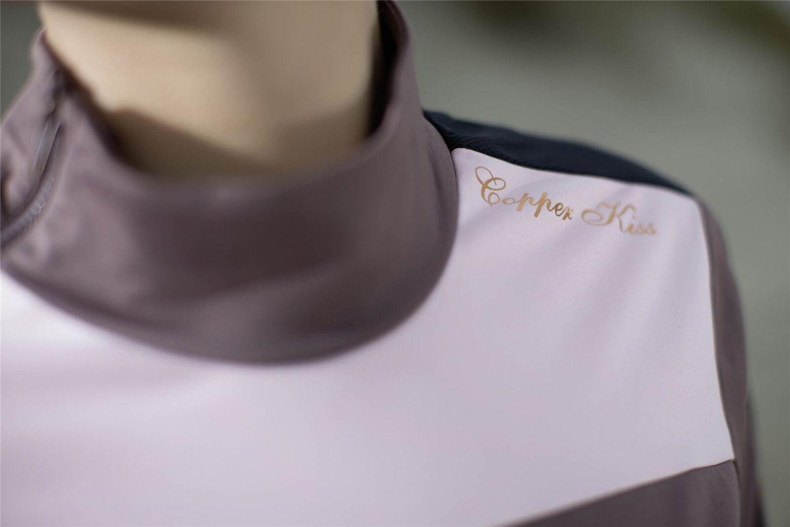 CAVALLINO marino in rame KISS Equitazione Equestre Camicia Easy Care funzione