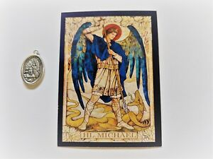 ST-MICHAEL-GERMAN-WRITTEN-1-FAITH-BLESSED-MEDAL-PRAYER-CARD-GERMAN-LANGUAGE