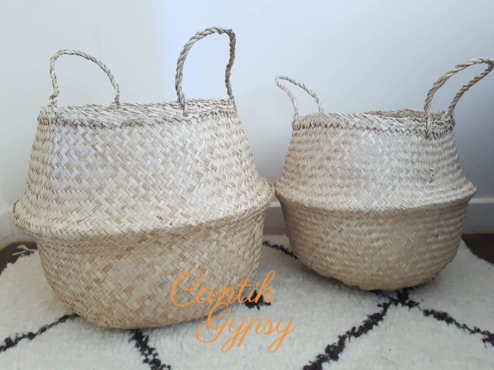 Vietnamese Seagrass Basket (Large) - Natural
