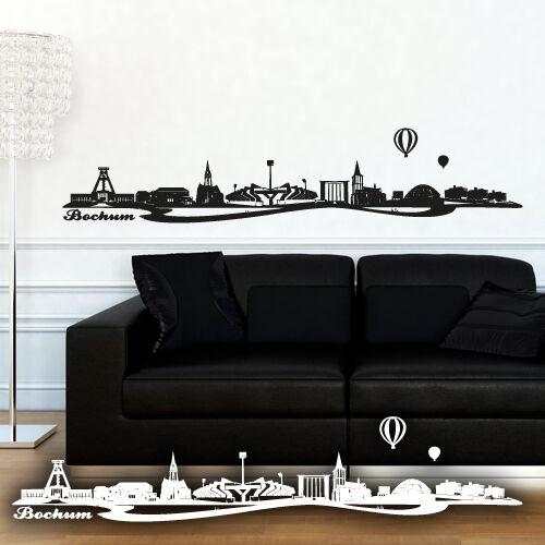 Skyline Bochum als Wandtattoo Wandaufkleber Wanddeko Aufkleber von Wandkings