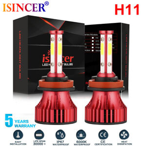 4-Sides-H11-H8-H9-CREE-LED-Headlight-Bulbs-2000W-385000LM-High-Power-Foglight