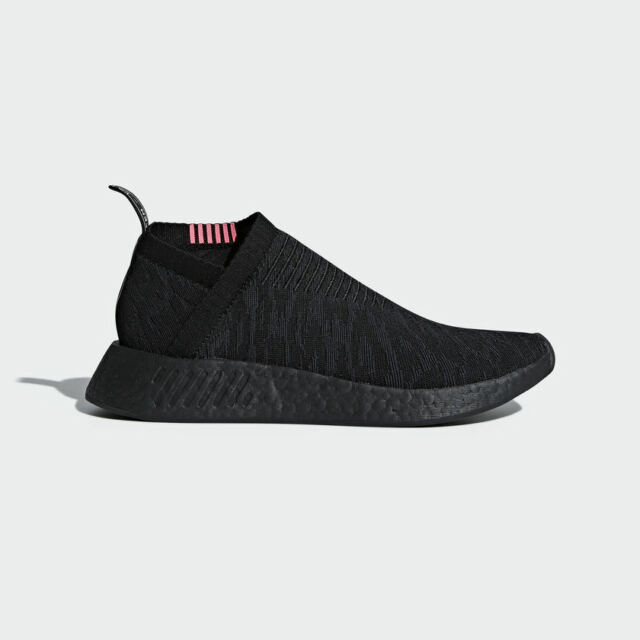 photos officielles 3fc8b e78f4 Adidas Originals NMD CS 2 Primeknit Black Boost City Sock Pink Slip On  CQ2373