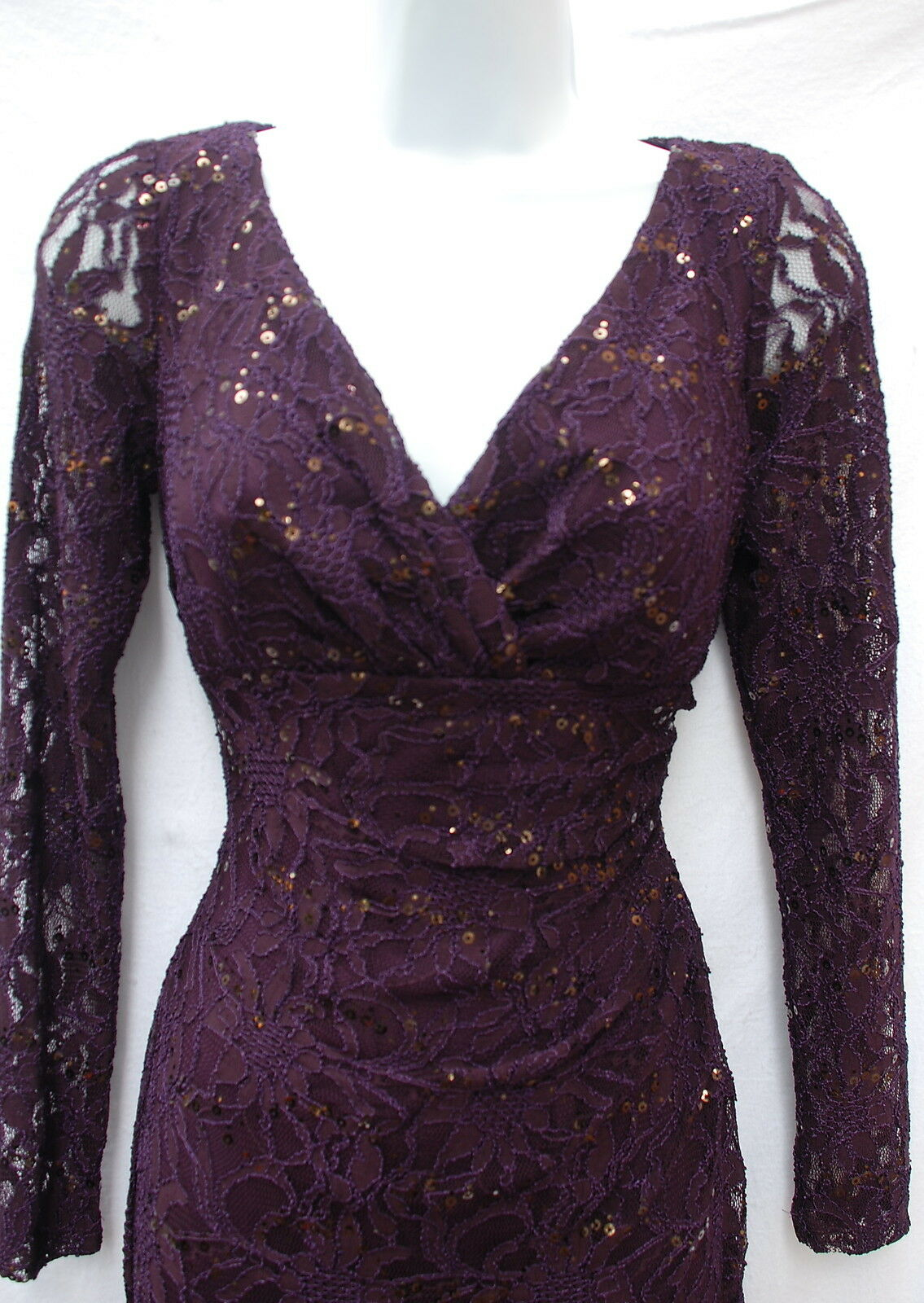 Ralph Lauren elegant evening lace dress gown gown gown 3 4 sleeves event occasion sz 2 c3efad