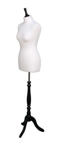 Deluxe Taille 10 Femme Tailleurs Mannequin Mannequin tailos Crème Buste Noir Support