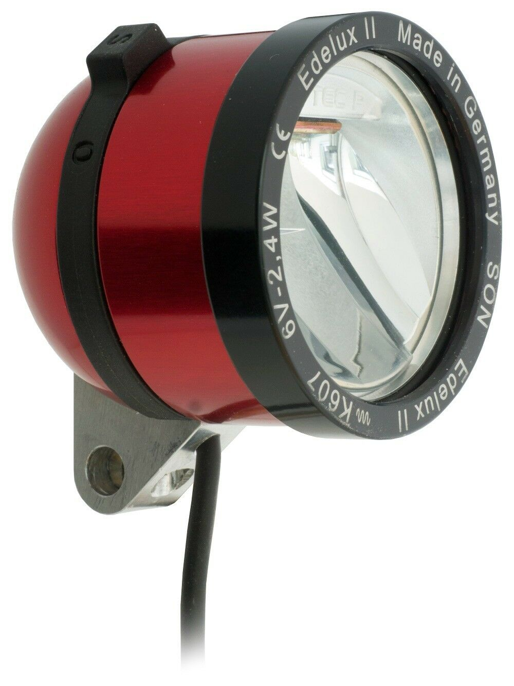 Novelty LED Headlight Son edelux II Red with 140 CM CABEL Loose Connections