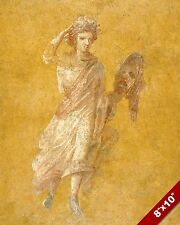 ANCIENT ROMAN THEATER ACTOR & MASK ROME PAINTING HISTORY FRESCO ART CANVAS PRINT