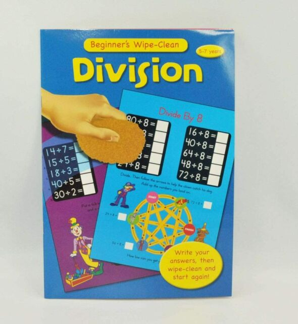 Fun To Learn Wipe-Clean Childrens Educational Book Activity (Division)