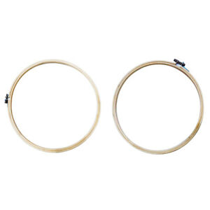2Pcs-Bamboo-9-12-inch-Embroidery-Hoop-Wooden-Cross-Stitch-Ring-Frame-Crafts
