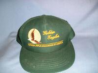 H-7 - Nra Golden Eagle Green Ball Cap Adjustable