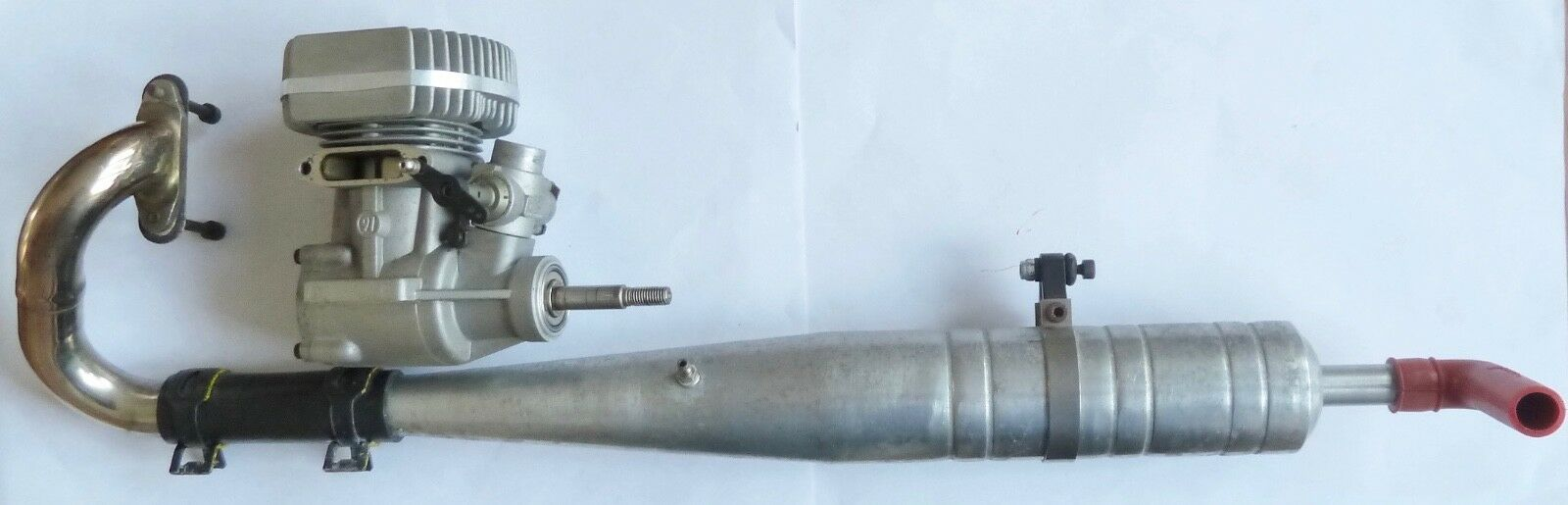 OS MAX 91 RC Helicopter Nitro Engine Exhaust Pipe + Silencer