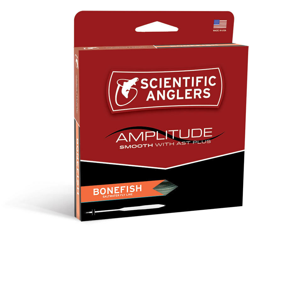 SCIENTIFIC ANGLERS AMPLITUDE SMOOTH BONEFISH WF-9-F WEIGHT FLOATING FLY LINE