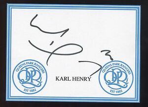 Karl Henry signed QPR crested card - Norwich, Norfolk, United Kingdom - Karl Henry signed QPR crested card - Norwich, Norfolk, United Kingdom