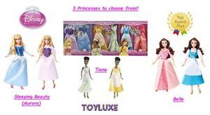 Disney-Princess-Sparkle-Doll-Cloths-Fashion-2-Gown-Dress-Outfit-Set-Barbie-NEW