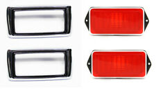 1969 Mustang Marker Light Lamps With Bezels Rear Side Pair Both Left Right