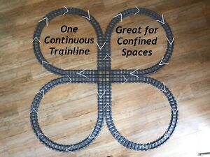 Single-Track-Section-034-Cloverleaf-034-Lego-Train-Compatible-with-60098-7499-7895