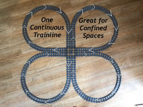"""7895 60238 /""""Cloverleaf/"""" Lego Train Track Compatible with 60098 7499 60205,"""