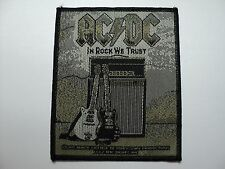 AC/DC    IN ROCK WE TRUST   WOVEN  PATCH