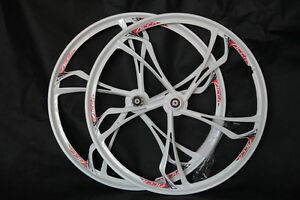 "26/"" MTB Bike Mag Magnesium Front Rear Wheel Rim Wheelset Set Disc 8//9//10 Speed"
