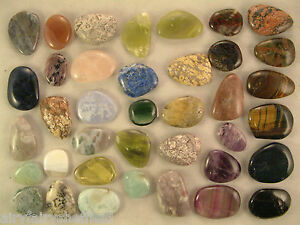 Details about CRYSTAL GEM STONE smooth / worry stone, healing, calming  meditation