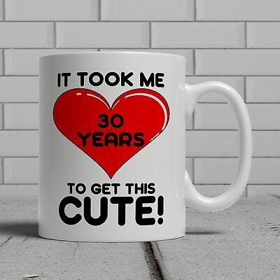 Cute 30 happy birthday 30th mug fun gift funny wife woman girlfriend best friend