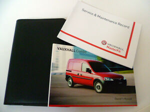 VAUXHALL COMBO VAN SERVICE BOOK HANDBOOK & WALLET PACK -  2008 To 2013 NEW