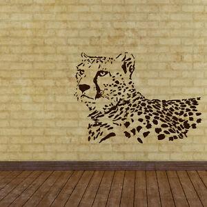 Leopard STENCIL Cheetah SPOTS Wild Animal Safari Zoo Wall Art Chic ...