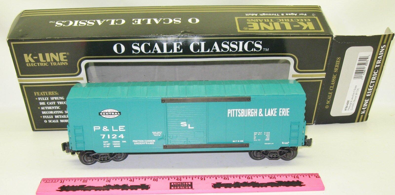 New K-Line K764-4091 Pittsburgh 7 Lake Erie O scale classic Modern boxcar (