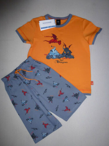 SCHIESSER Jungen Schlafanzug Pyjama kurz NICI Dragons Gr 98-140 Drachen NEU