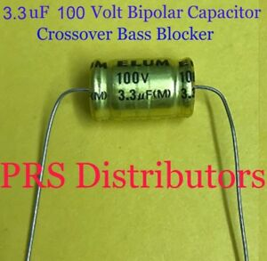 10uF 100V BIPOLAR CAPACITOR BASS BLOCKER SPEAKER TWEETER CROSSOVER 10 mF 2 Pcs