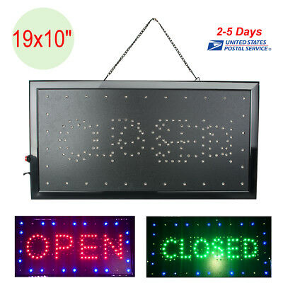 """Bright LED Open/&Closed Store Shop Business Sign 19x10/"""" Display Neon 110V//220V US"""