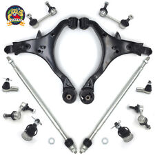 LSAILON 12pcs Control Arms AND Ball Joints ASSEMBLY-FORWARD LOWER Lower Control Arms Rear Position Front Sway Bar Links Upper Control Arms ront Outer Inner Tie Rod Ends Kit Fit for 2003-2007 Mazda 6