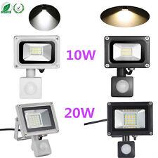 10W 20W 220V Warm/Cool White LED Flood Light+PIR Motion Sensor Security Lamp
