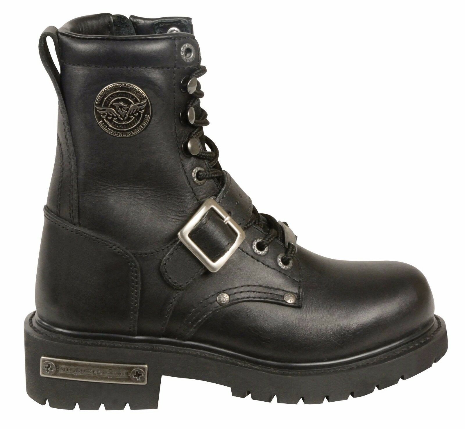 Señoras Negras De De Negras Cuero Clásico Moto Caballo botas 56689f
