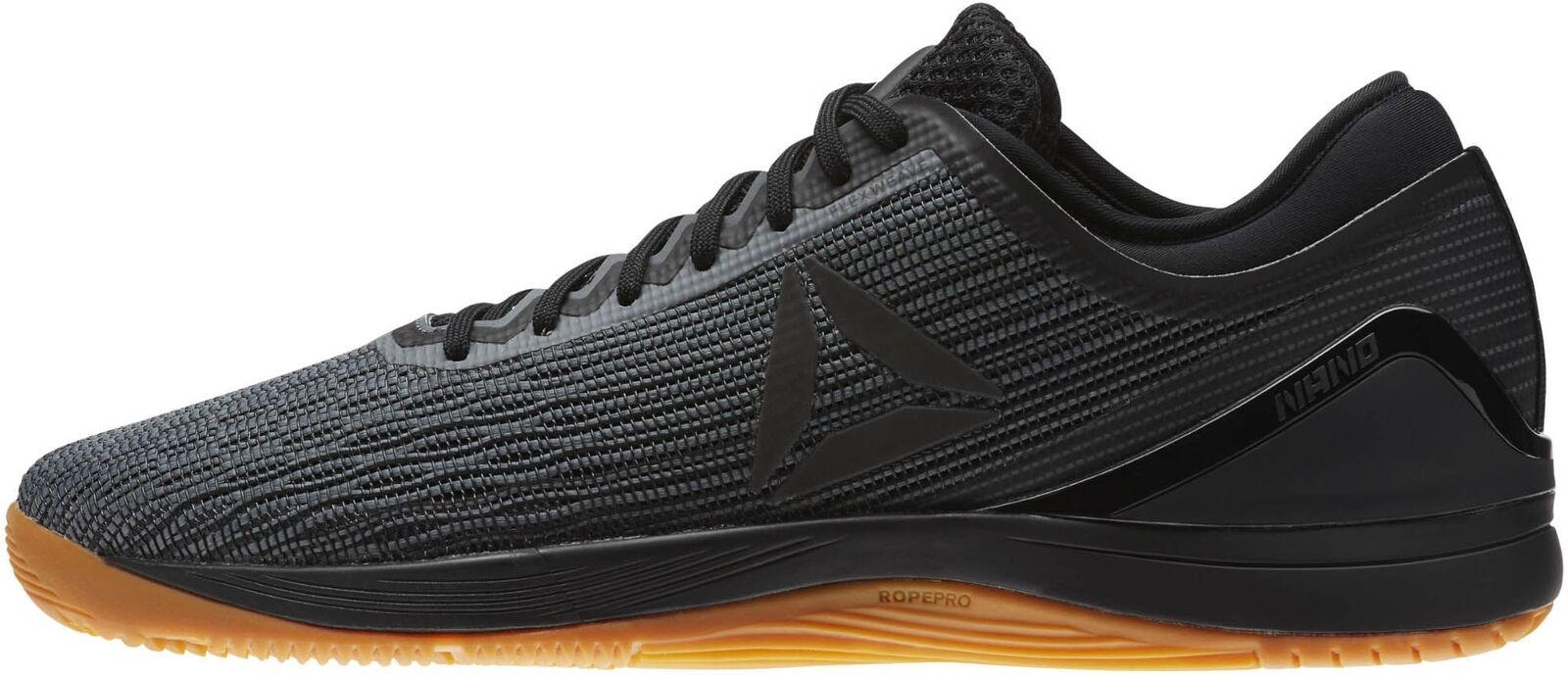 Reebok Crossfit Nano 8 Zapatos de entrenamiento para hombre flexweave Negro Gimnasio Entrenamiento Zapatillas