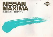 NISSAN   MAXIMA   1988    Betriebsanleitung   J30    Bordbuch   Handbuch   BA
