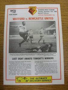 13-12-1988-Watford-v-Newcastle-United-Simod-Cup-Footy-Progs-Bobfrankandelvis