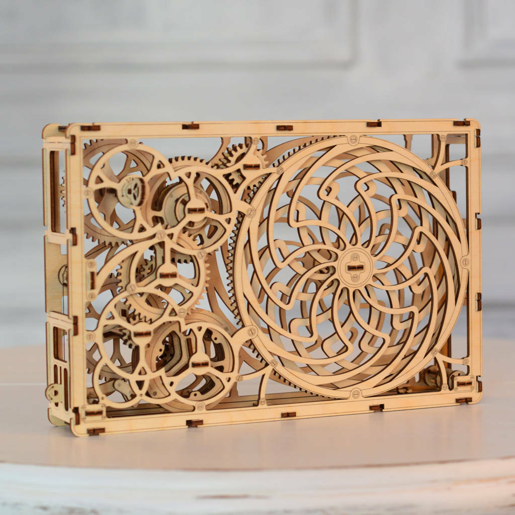HOME DECOR KINETIC PICTURE - WOODEN CITY 3D Mechanical Wooden model