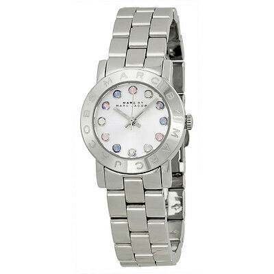 Marc by Marc Jacobs Amy Dexter White Dial Stainless Steel Ladies Watch MBM3217